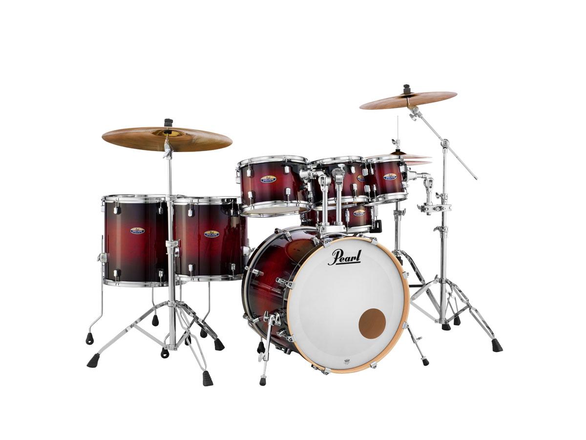 Image of   Pearl Decade Maple Standard Trommesæt Gloss Deep Red Burst