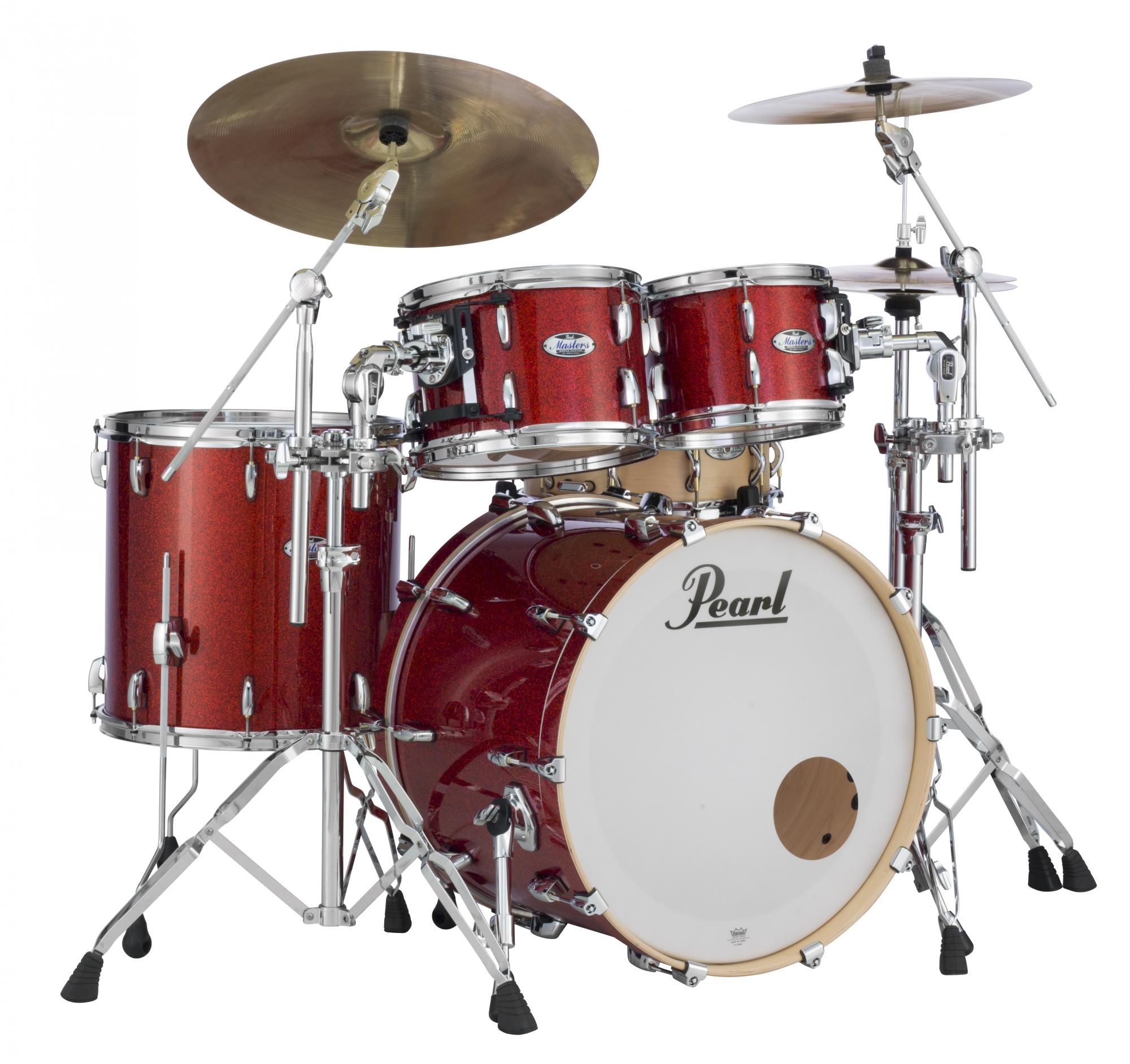 Image of   Pearl Masters Maple Complete Trommesæt Vermillion Sparkle