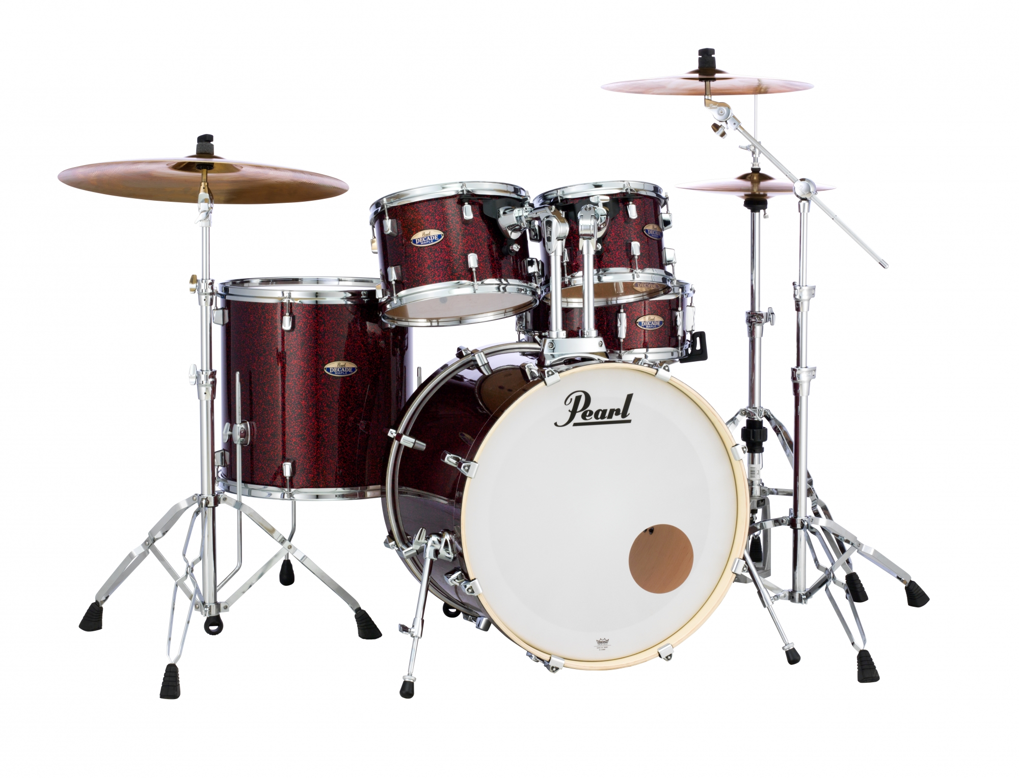 Image of   Pearl Decade Maple Standard Trommesæt Crimson Galaxy Flake