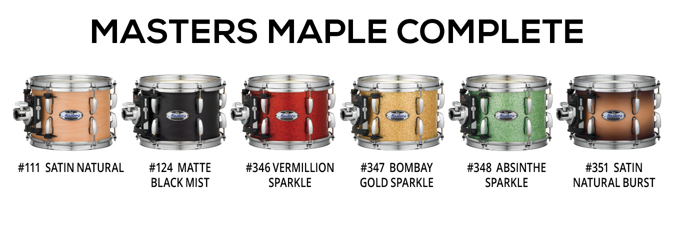 Image of   Pearl Masters Maple Complete Trommesæt Satin Natural