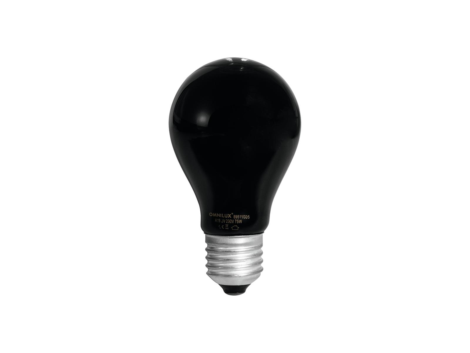 Image of   UV Pære A19 75W E-27 - Omnilux