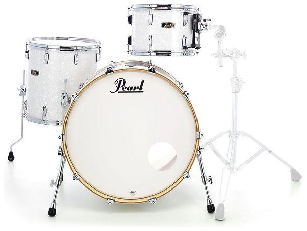 Image of   Pearl Wood Fiberglass Rock Trommesæt White Marine Pearl