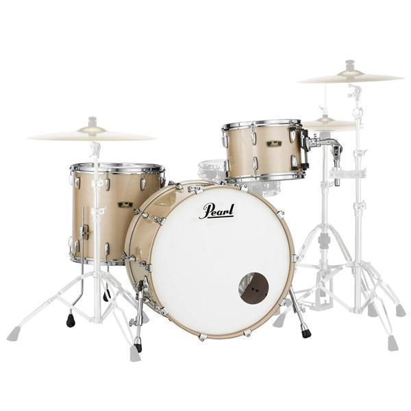 Image of   Pearl Wood Fiberglass Rock Trommesæt Platinum Mist