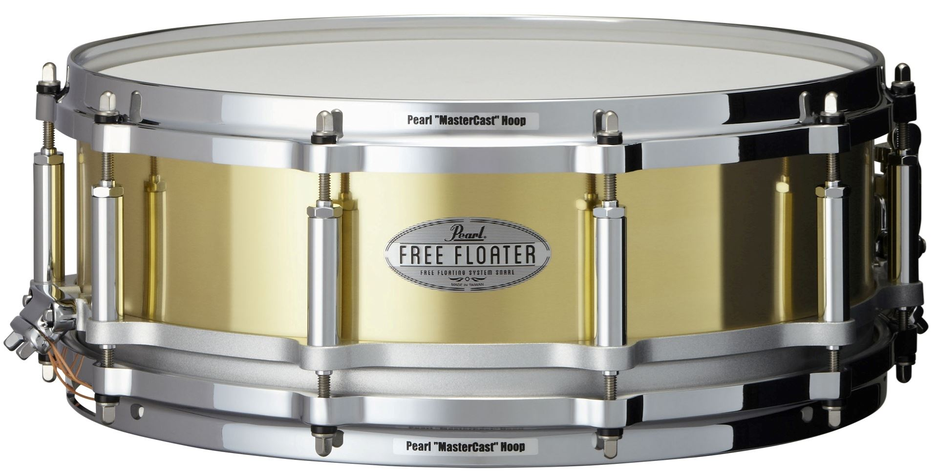 """Image of   Pearl 14x5"""" Free Floating Brass lilletromme"""