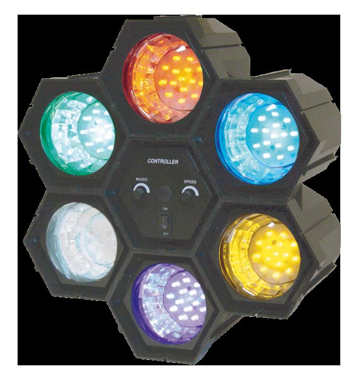 Image of   Ibiza 6-POD LED partyeffekt