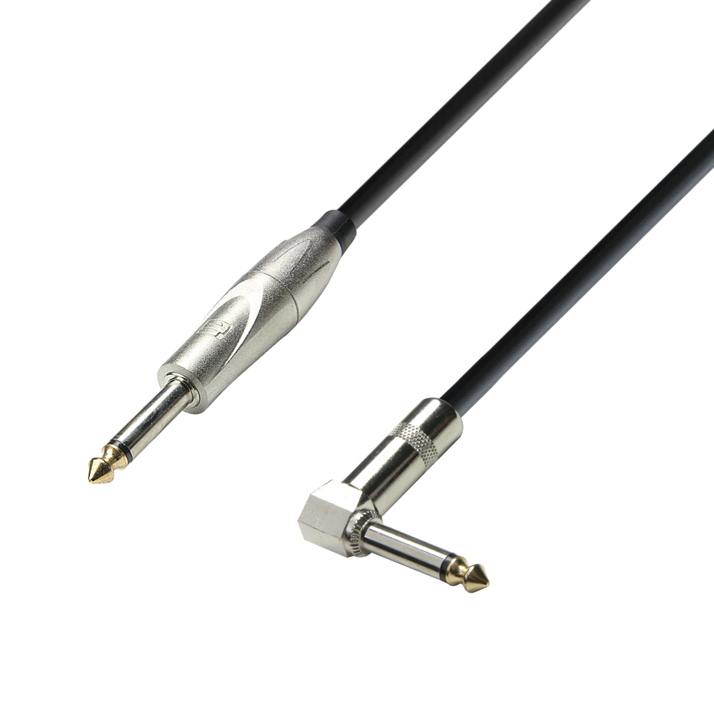 Image of   Instrument Kabel 6.3 mm Jack mono til 6.3 mm Vinkel Jack mono 3 meter