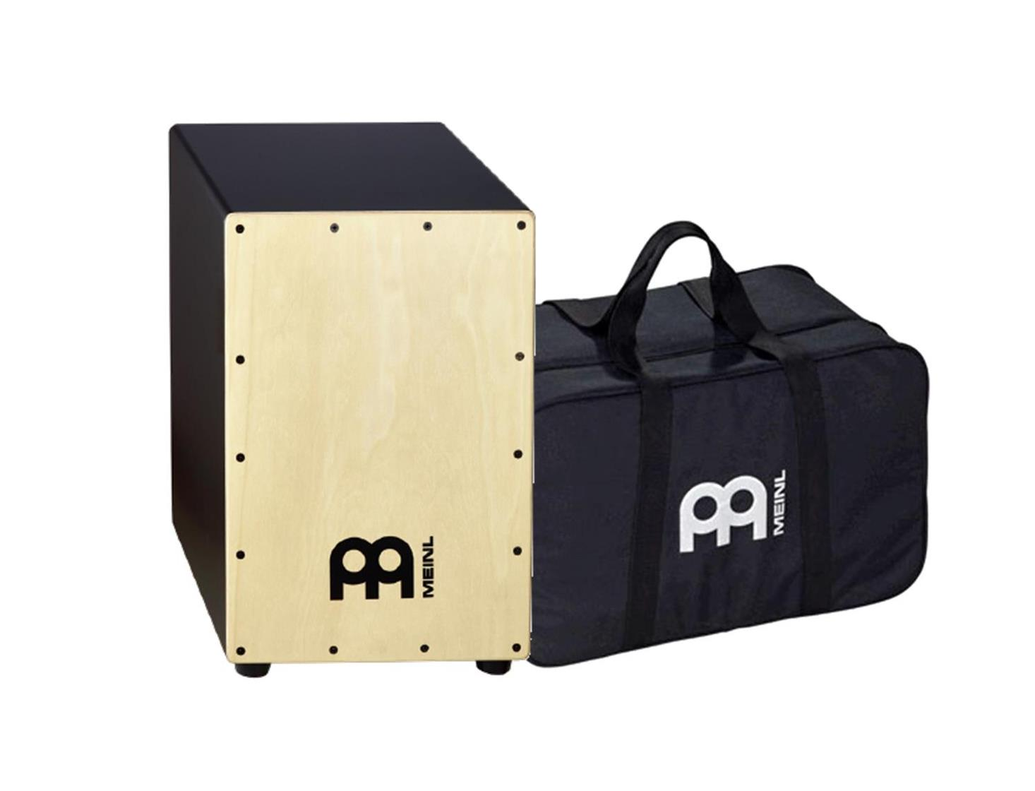 Image of   MEINL MCAJ100BK-AS+BAG Black Cajon Ash inkl. Bag