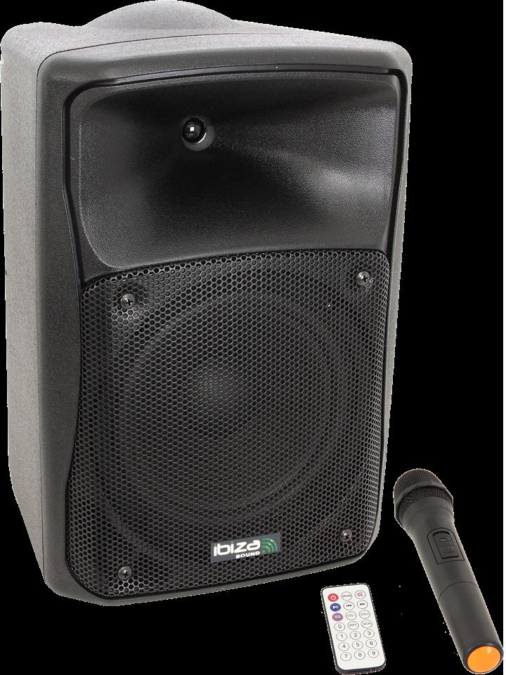 """Image of   Ibiza 8"""" højttaler med Bluetooth og Mikrofon"""
