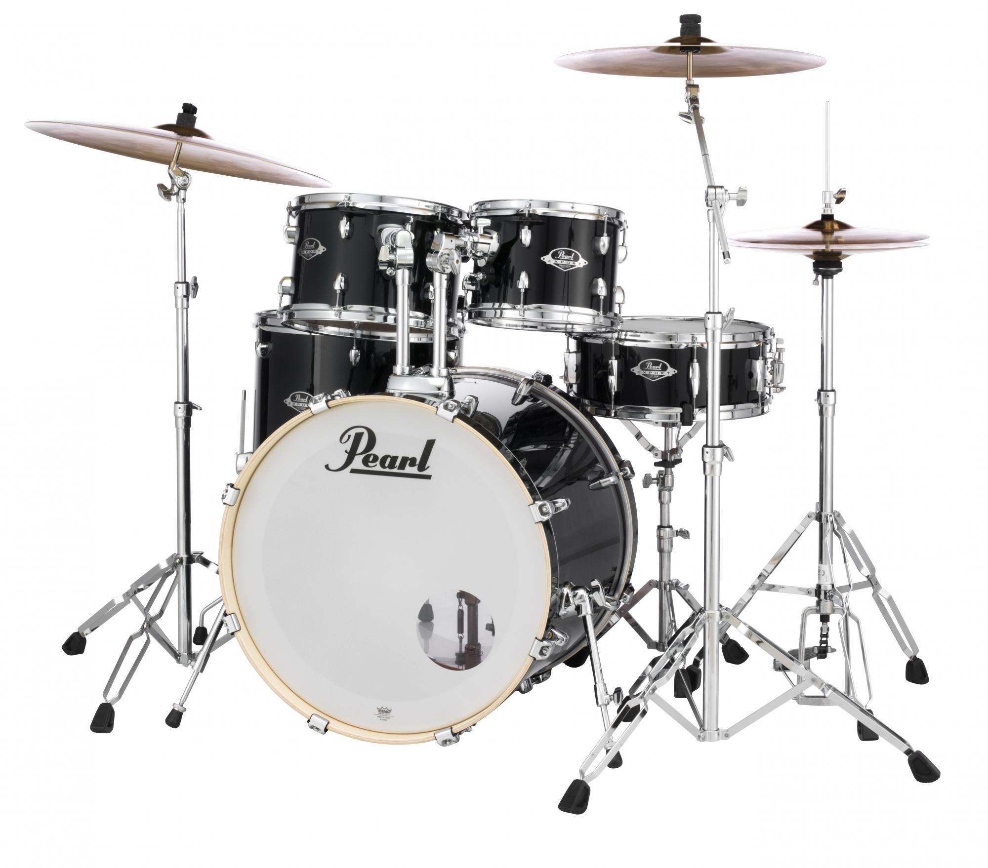 Image of   Pearl Export EXX Standard Trommesæt Jet Black