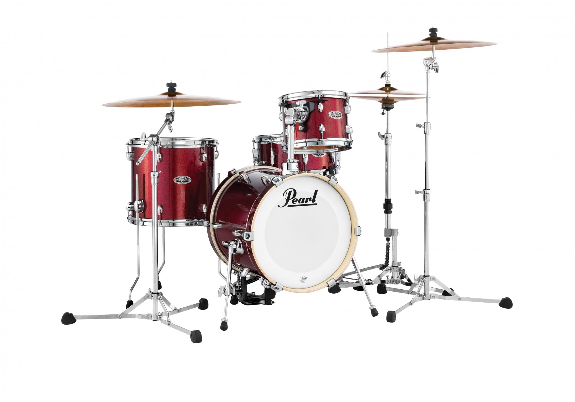 Image of   Pearl Midtown Trommesæt Black Cherry Glitter
