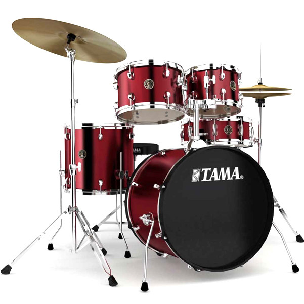 Image of   Tama Rhythm Mate Studio Trommesæt Wine Red