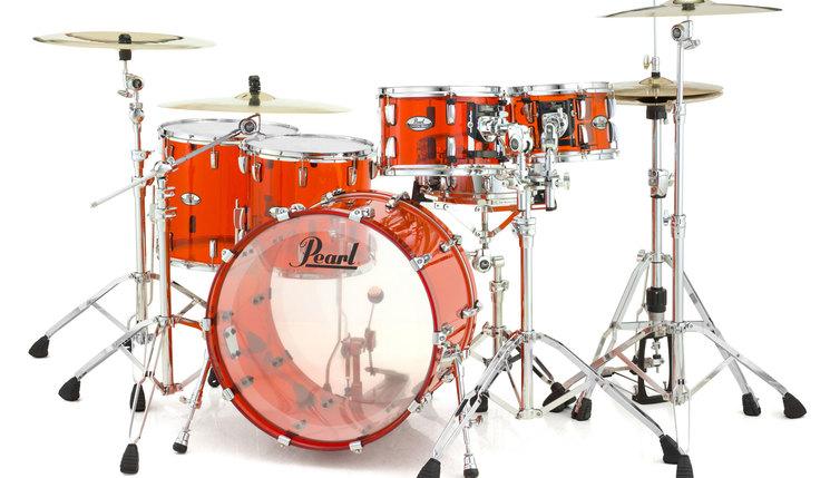 Image of   Pearl Crystal Beat Rock Trommesæt Ruby Red