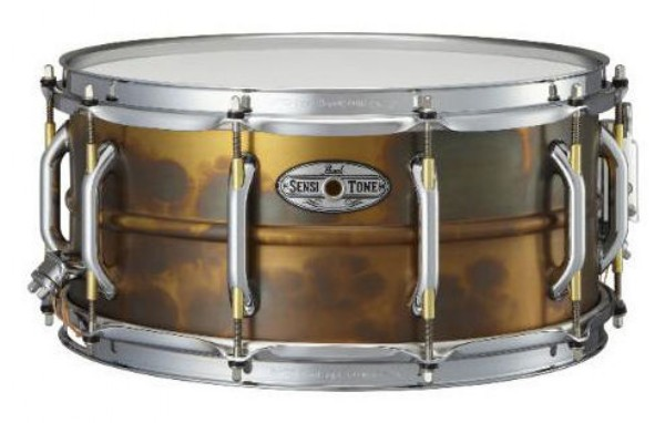 """Image of   Pearl 14x6,5"""" SensiTone Beaded Brass lilletromme"""