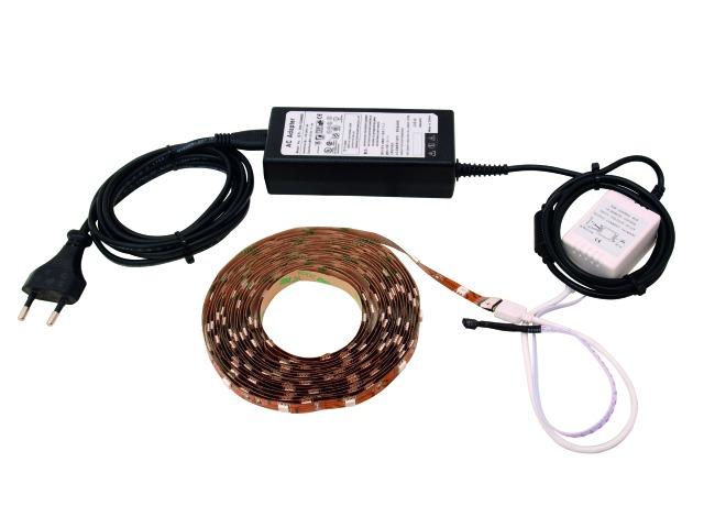 Image of   LED Ribbon blister set 5m RGB SMD 5050 - Eurolite