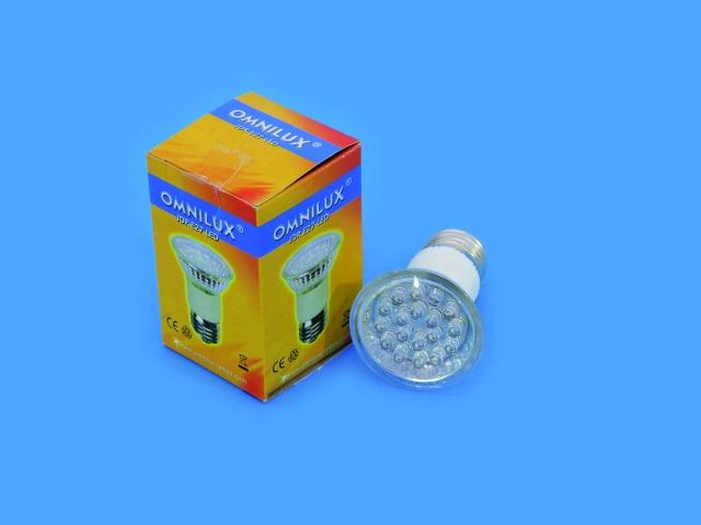 Image of   OMNILUX JDR 230V E27 18 LED UV-aktiv