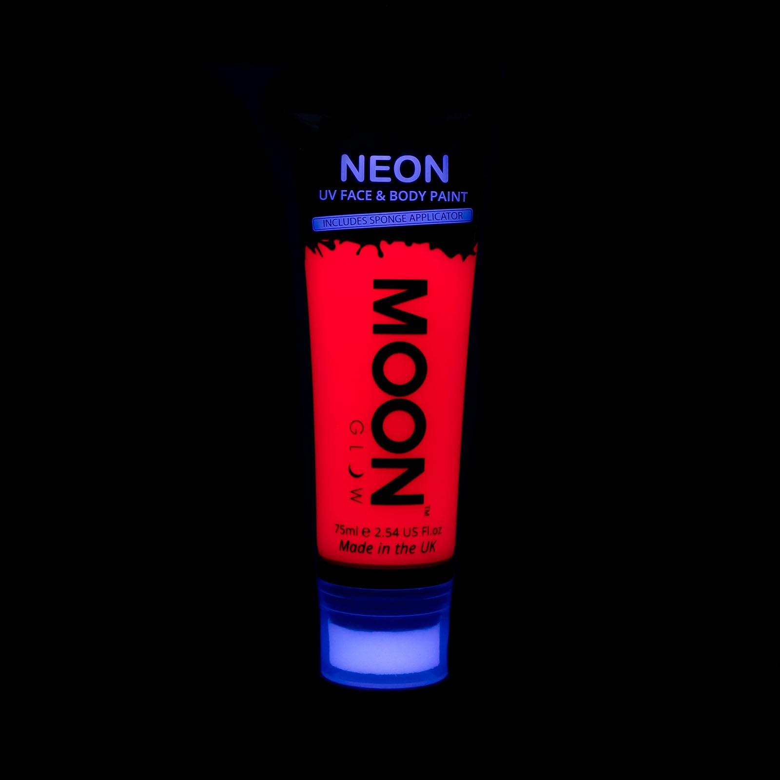 Image of   UV Krops- og ansigtsmaling 75 ml. Rød