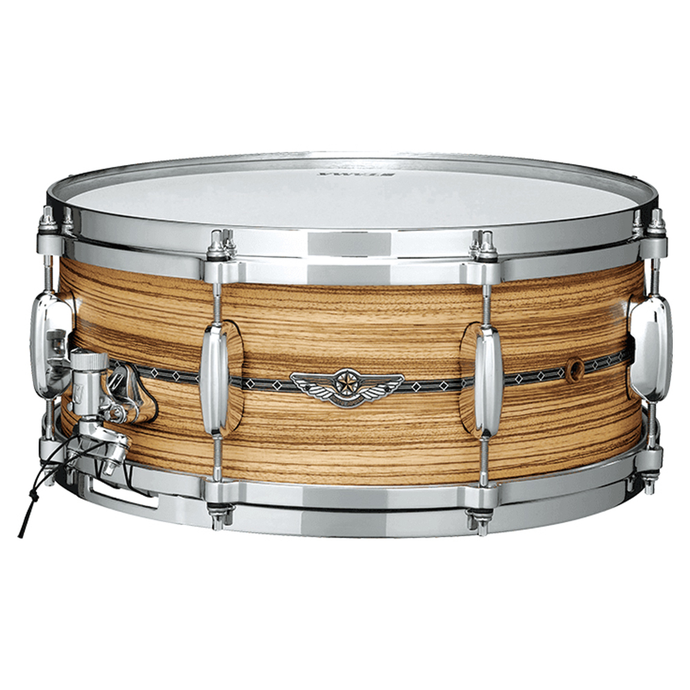 """Image of   Tama Star 14x6"""" Solid Zebrawood, Oiled Natural Finish"""